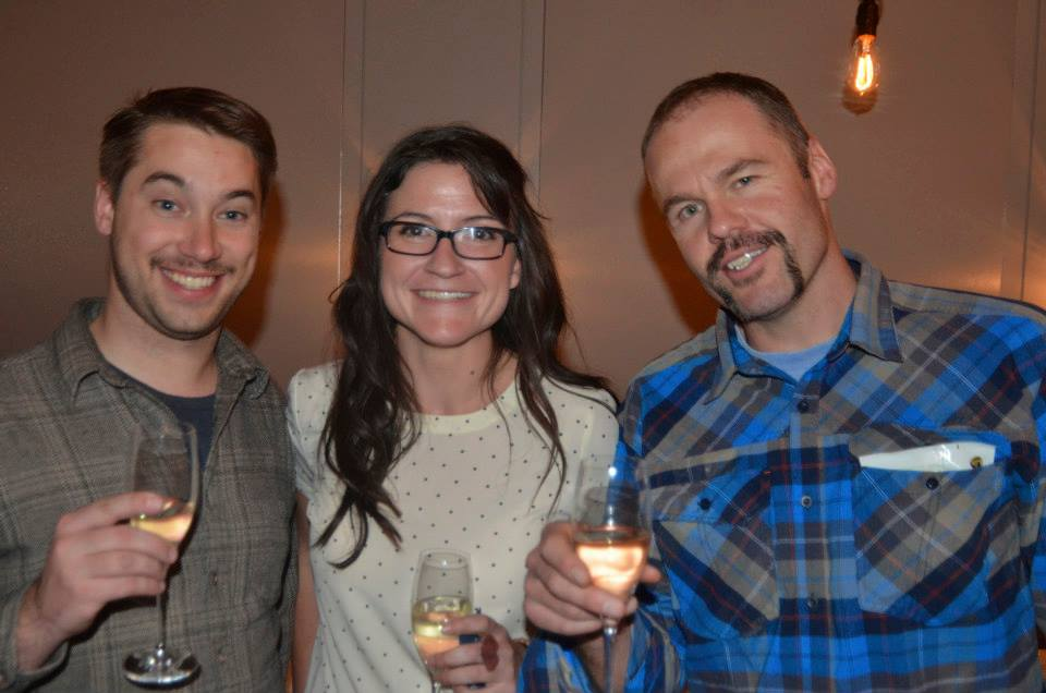 Chris Thompson & Sam Bass from SKI Magazine/ Skiing Magazine and BackboneMedia's Amanda Boyle