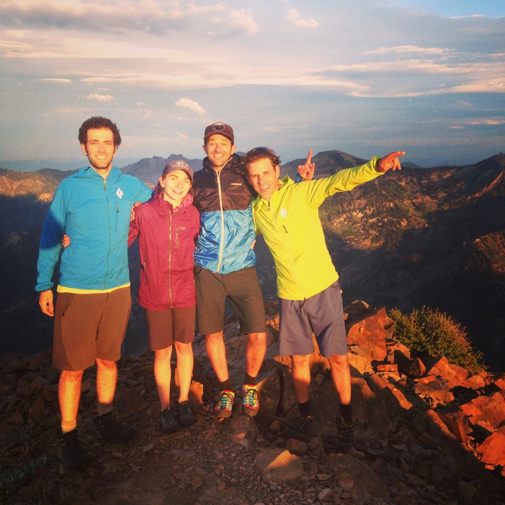 Climbing mag crew and JLD on summit