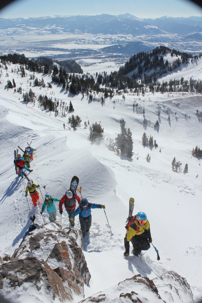 Ski apparel launch in Jackson Hole, WY